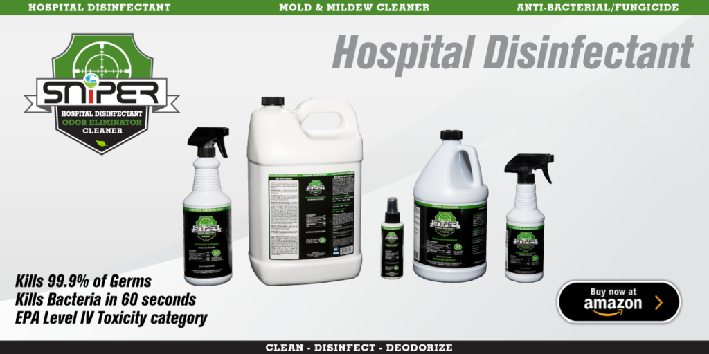 SNiPER™  Hospital Disinfectant & Odor Eliminator.